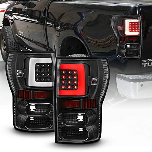 ACANII - For Black Bright Light Tube 2007-2013 Toyota Tundra LED Tail Lights Brake Lamps