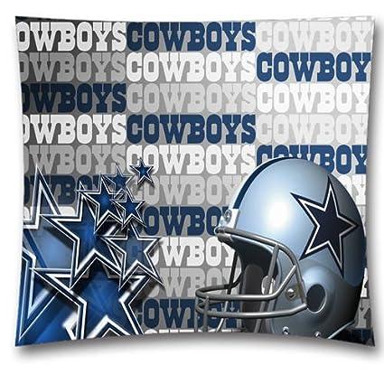 Cotton Linen Square Throw Pillow Case Decorative Dallas Cowboys Enchanting Dallas Cowboys Decorative Pillow