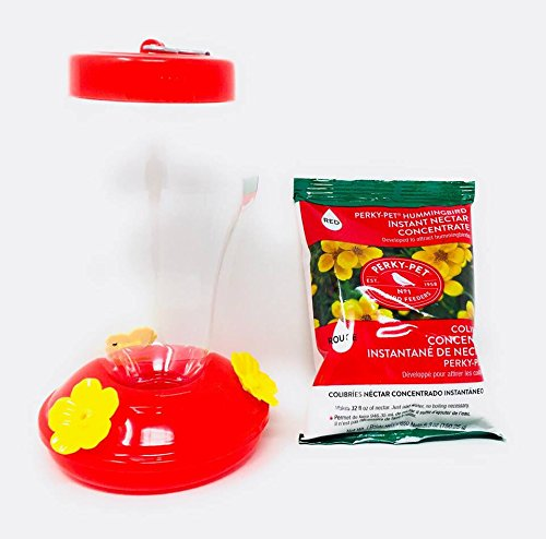 Red Hummingbird Feeder With Instant Nectar ~ Makes 32 Ounces of Nectar (One Each)