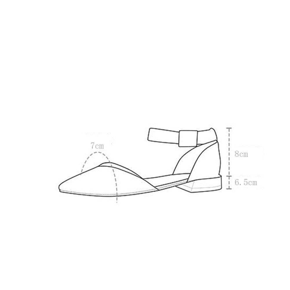 WYYY WYYY WYYY Damenschuhe High Heels mit Abzug mit mit flachen Freizeitschuhe Mund- 6,5 cm Farbe  Beige Größe EU39 UK6 cn39 ba4a13