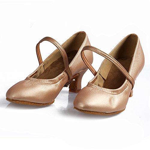 Hroyl Chaussures Cuir Femmes Modèle 1 Pour 5cm 5003 Marron 76inches De Latine Danse XdrX5qZxw