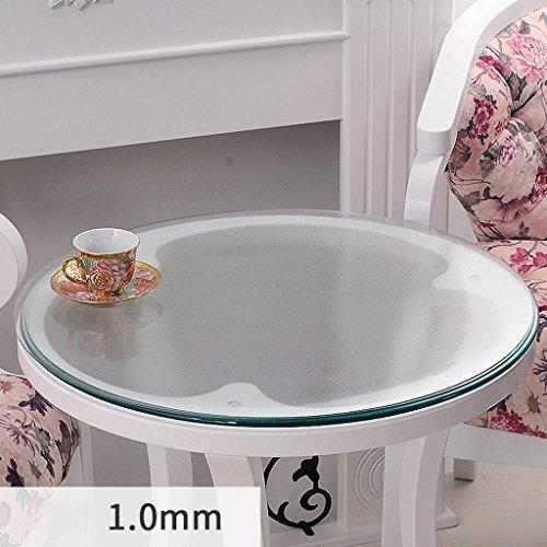 1.0mm diameter 130cm Nappe ronde en verre souple transparent étanche table basse mat PVC plaque de cristal plaque de table , 1.0mm , diameter 130cm