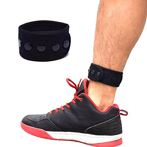 B-Great Ankle Band with Mesh Pouch for Men and Women Compatible with Fitbit Flex 2/Fitbit One/Fitbit Alta/Fitbit Charge 2/Misfit Ray/Sony Smartband Fitness Tracker (Black, Medium)