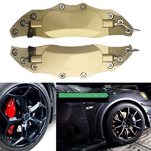 WYYINLI 2PCS 3D Aluminum Alloy Metal Trim Brake Caliper Cover Car Universal Disc Caliper Covers Decorations Kit(Gold S)