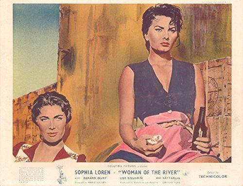Baggage of the River Original Lobby Card 1954 Sophia Loren Lise Bourdin