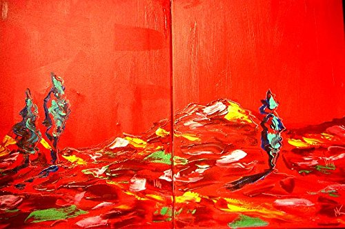 [Fine Art Original Paintings Artwork New York Landscape Wine Still Life Cityscape Trees Music Jazz Hearts Pop Art Modern Contemporary Gallery Wall Decor Canvas Abstract Art for Sale By Artist Mark Kazav Ready to Display Palette Knife Texture Impressionist Fine Art Gallery Red Blue Black Green Earthy Wall Decor] (Contemporary Modern Palette)