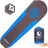 VENTURE 4TH Self Inflating Sleeping Pad – No Pump or Lung Power Required – Warm, Quiet and Supportive Mattress for a Comfortable Night's Sleep – Compact and Ultra Light Mat (Blue/Gray)