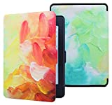 Aimerday SmartShell Case for Kindle Paperwhite, PU Leather Magnetic Cover with Auto Wake / Sleep for All-new Amazon Kindle Paperwhite (Fits All 2012, 2013, 2015 and 2016 Versions) Drawingoil