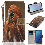Misteem Case for Samsung Galaxy S9 Plus Animal, Cartoon Anime Comic Leather Case Wallet with Bookstyle Magnetic Closure Card Slot Holder Flip Cover Shockproof Slim Creative Pattern Shell Protective Cover for Samsung Galaxy S9 Plus [Eagle]