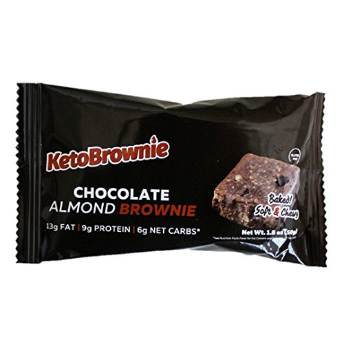 KetoBrownie - Low-Carb High Fat Baked Keto Brownies (12 Count Chocolate Almond (Doctors Carbrite Diet)