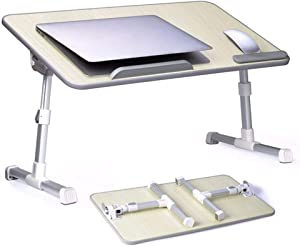 Foldable Laptop Desk with Fan, Adjustable Angle, Laptop Stand with Adjustable Legs for Reading & Writing in The Bed, Premium Laptop Desk