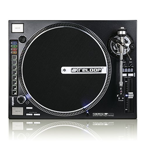 Lowest Price! Reloop RP-8000 Advanced Hybrid Torque MIDI Turntable with Straight Tone Arm, Black (RP...