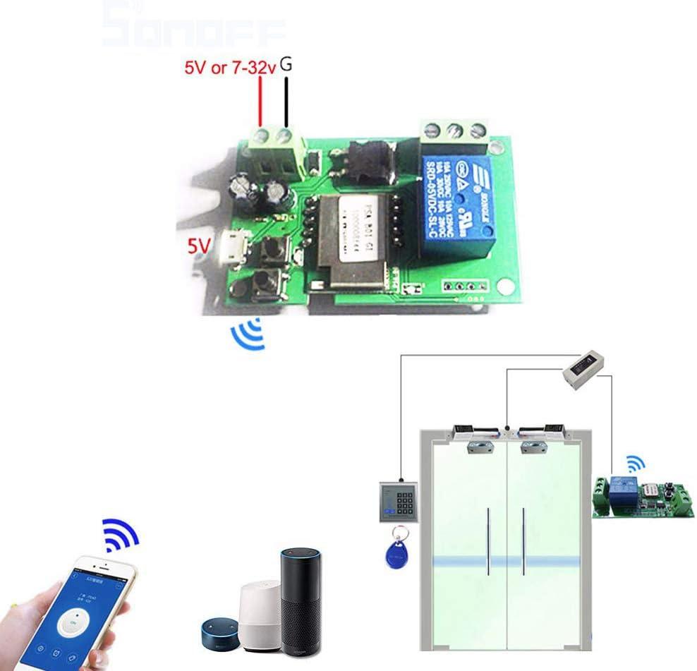 Sonoff DC5V 12V 24V 32V Wifi Switch