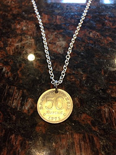 Indonesia 50 rupiah coin necklace