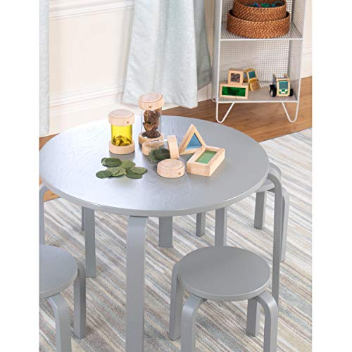 Guidecraft Nordic Table and Chairs - Gray : Toddlers Activity Table & Chair, Little Kid's Preschool Wooden Furniture