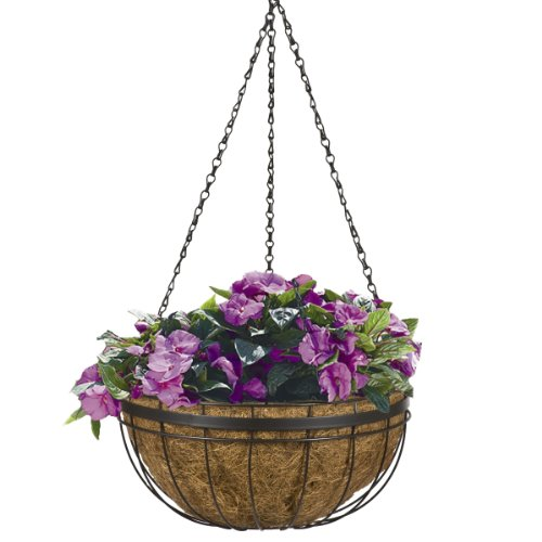 CobraCo HGB14QE-BZ Queen Elizabeth 14-Inch Bronze Hanging Basket Planter