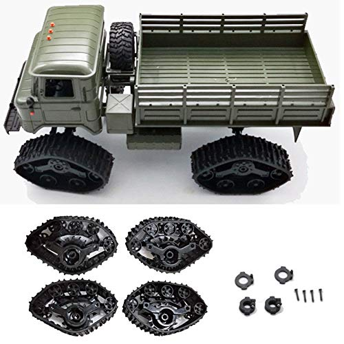 4pcs Upgrade Track Wheels Spare Parts for 1/16 WPL B14 C24 Military Truck RC Car