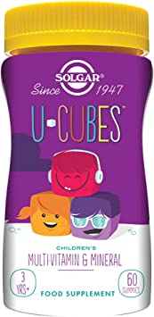 Solgar U-Cubes Vitaminas y Minerales, 60 gominolas - 60 Unidades