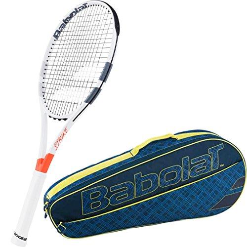 Club Racket Bag - Babolat Pure Strike 26 Inch Junior Tennis Racquet bundled with a Blue/Yellow Club 3 Racquet Holder Tennis Bag