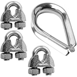 SecureLine 7316 Cable/Rope Thimble & Clamp Set 5/16-Inch (6-Pack)