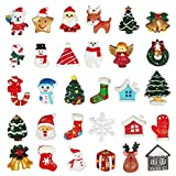 Kesoto 30 pcs Christmas Tree Snow Beer Resin Flatback Button Art Album Flatback Scrapbooking Craft Embellishments