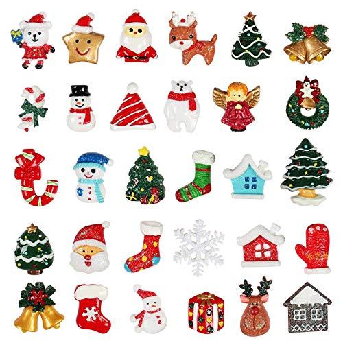 Kesoto 30 pcs Christmas Tree Snow Beer Resin Flatback Album Flatback Scrapbooking Craft Embellishments