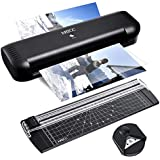 MATCC Thermal Laminator A4 Paper Cutter and Corner Rounder 9inches Max Lamination Width 2 Roller System Laminator Machine Fast Warm-up Quick Laminating Speed Laminator Suit for Home Art Office etc