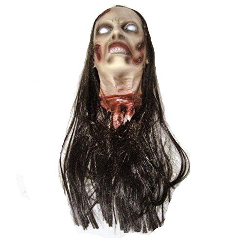 Female Zombie Head Prop (Lifesize Severed Zombie Female Head Halloween Decoration 23