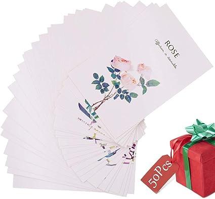 Set de 30 Tarjetas Postales, Mirabell Gardens Postales en caja,Flores Secas Foto de la Foto Cartel de la Postal,para Persona Especial y Ocasión Importante Tarjetas de Invitación de Cumpleaños: Amazon.es: Oficina y