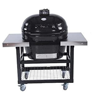 Primo Ceramic Charcoal Smoker Grill On Cart With Side Tables - Oval Xl from Primo