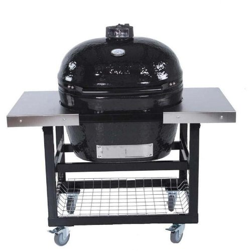 Primo Ceramic Charcoal Smoker Grill On Cart With Side Tables - Oval Xl ()