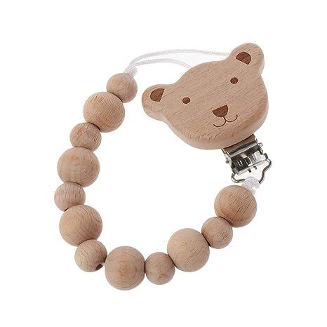 ZChun Chupete de Madera diseño Dulce, para niños pequeños ...