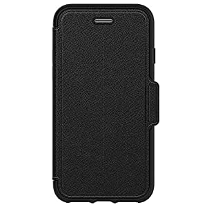 OtterBox STRADA SERIES Case for iPhone 8 & iPhone 7 (NOT Plus) - Frustration Free Packaging - ONYX (BLACK/BLACK LEATHER)