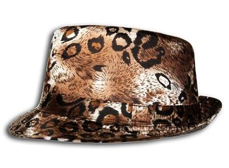 Leopard Animal Print Trilby Fedora Hat in Brown 723c1f4262f
