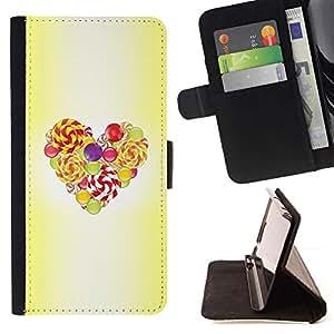 Momo Phone Case / Flip Funda de Cuero Case Cover - Pascua Amarillo Acuarela Amor - Huawei Ascend P8 (Not for P8 Lite)