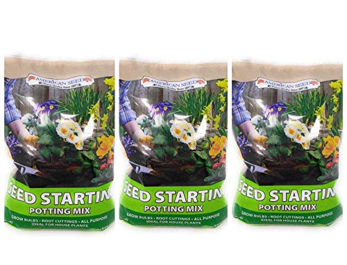 P2P Seed Starting Potting Soil Mix ~ All Purpose Ideal for House Plants, Bulbs, Cuttings and Seedlings .2 LB Bag (Set of 3) Including (Bonus: Nomi's Mini Garden Fairy)
