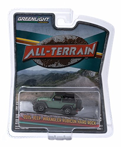 2015 JEEP WRANGLER RUBICON HARD ROCK (Tank Green) * All-Terrain Series 1 * 2015 Greenlight Collectibles 1:64 Scale Die-Cast Vehicle