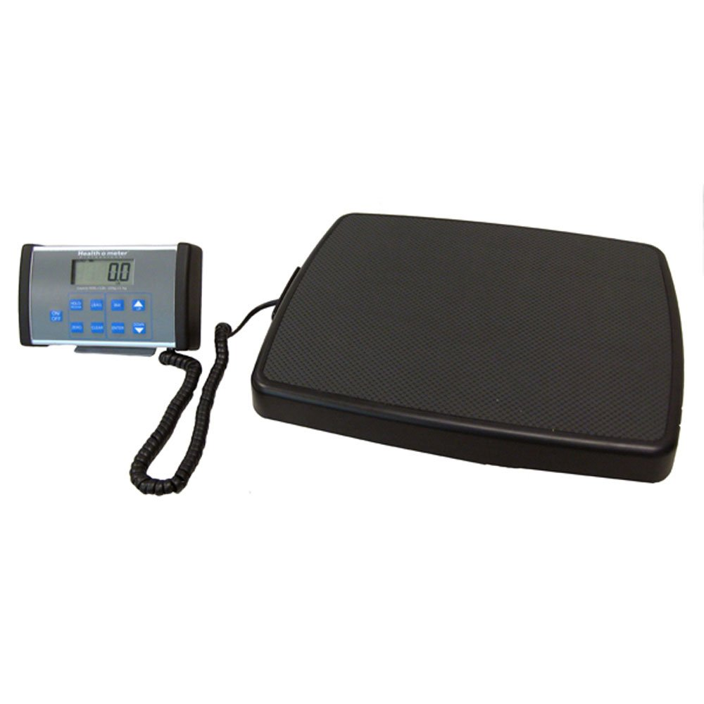 "B000NHPGHW Health O Meter 498KL Digital Scale, Remote Display, Stand-On, Capacity 500 lb, Resolution 0.2 lb./0.1kg, 13-3/4"" x 16-1/2""x 2-3/8 H Platform 51vYtJ3GvzL"