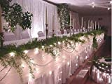 Icicle Wedding Lights-12 feet-150 Lights White Cord Table draping and Event Lights