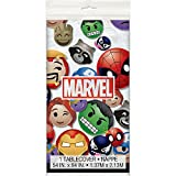 "Unique Marvel Emoticon Plastic Tablecloth, 84"" X 54"""
