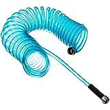 Plastair SpringHose PUW625B9-M-3OT-AMZ Light Polyurethane Lead Free Drinking Water Safe Marine/RV Recoil Hose, Blue Translucent, 3/8-Inch by 25-Foot