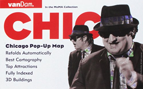 Pop-Up Chicago Map by VanDam - City Street Map of Chicago - Laminated folding pocket size city travel and subway map (Pop-Up Map) - Chicago State Street