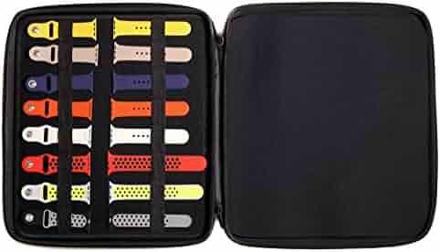 Watch Band Storage Portfolio - For Apple Watch Bands Watches -Storage Travel Case - Watchband