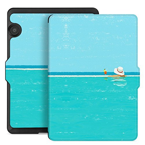 Voyage Series (Ayotu Case for Kindle Voyage E-reader Auto Wake and Sleep Smart Protective Cover, Made For 2014 Kindle Voyage Case Painting Series KV-09The Summertime)