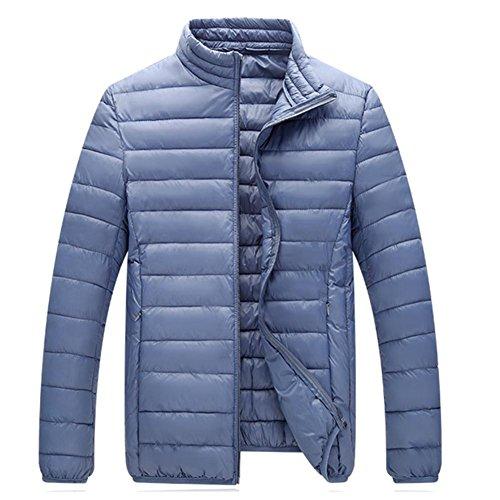 Abrigo Fashion Caliente Collar Algodón Gruesas Mens Stand Abrigos Winter Gray Acolchadas Chaquetas Acolchados De qCx7nTUa