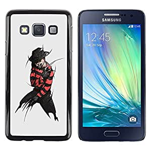 TECHCASE**Cubierta de la caja de protección la piel dura para el ** Samsung Galaxy A3 SM-A300 ** Villain Criminal Black Devil Hat Dark Man Art