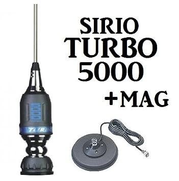 Sirio Turbo 5000 con Sirio 145 Mag con Coaxial y PL259: Amazon.es: Electrónica