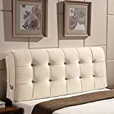 Vercart Sofa Bed Large Filled Triangular Wedge Cushion Bed Backrest Positioning Support Pillow Reading Pillow Office Lumbar Pad with Removable Cover Off-White 71 Inches