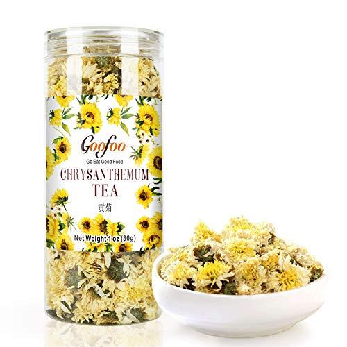 Goofoo Chrysanthemum Tea Gongju Whole Chinese Herbal Flower Loose Leaf Tea Decaffeinated 1 oz