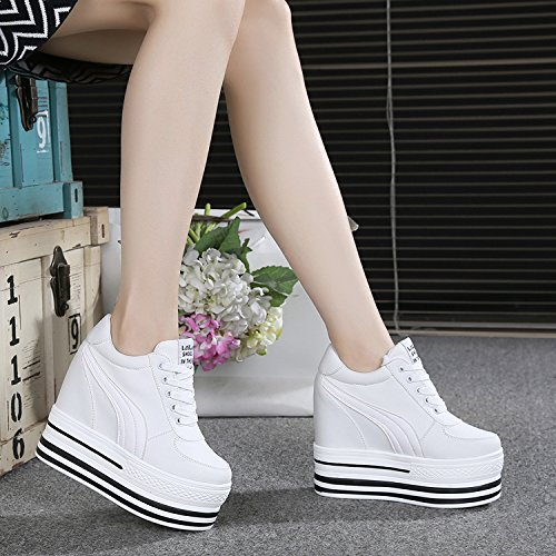 avec De Fond Printemps Chaussures L'Automne Muffin Ultra Match Plumes Chaussure Et De Blanches Haut white Augmentation Une KHSKX Épaisse Nouveau TxA6qx0